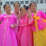 Modern, brightly dyed hanbok.