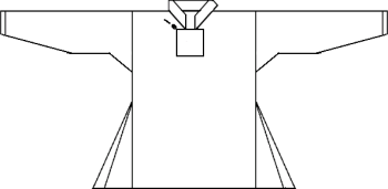 Line drawing of the shirt.